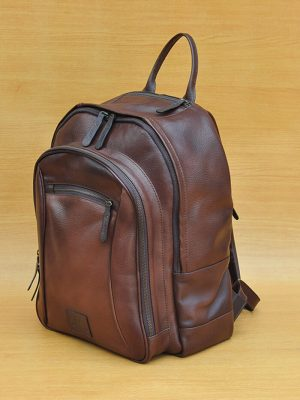 Dagon Backpack - Dark Brown GL 15 Jual Tas Kulit Asli Jogja Genkzhi Leather