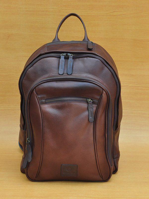 Dagon Backpack - Dark Brown GL 15 Jual Tas Kulit Asli Jogja Genkzhi Leather