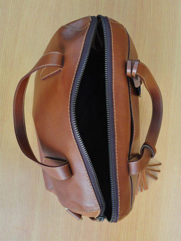 Elca Bag - Brown GL14 Jual Tas Kulit Asli Jogja Genkzhi Leather