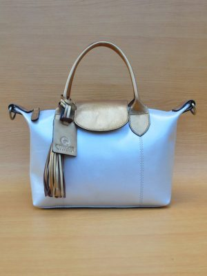 Elcee Bag - Glowing White GL1 Elcee Bag - Glowing White GL1 Jual Tas Kulit Asli Jogja Genkzhi Leather