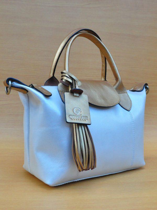 Elcee Bag - Glowing White GL1 Elcee Bag - Glowing White GL1 Jual Tas Kulit Asli Jogja Genkzhi Leather