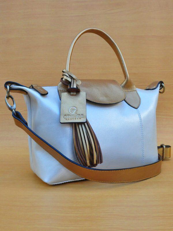 Elcee Bag - Glowing White GL1 Jual Tas Kulit Asli Jogja Genkzhi Leather