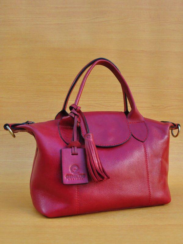 Elcee Bag - Maroon GL17 Jual Tas Kulit Asli Jogja Genkzhi Leather