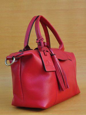 Elcee Bag - Red GL16 Jual Tas Kulit Asli Jogja Genkzhi Leather