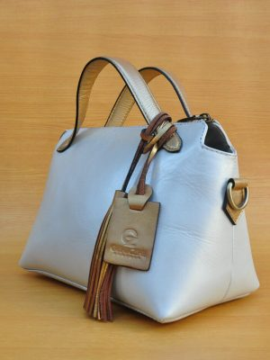 Fero Bag - Golden White GL19 Jual Tas Kulit Asli Jogja Genkzhi Leather