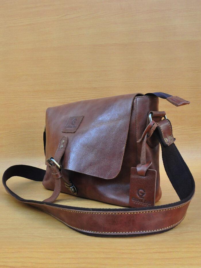 Frezza Bag - Dark Brown GL25 Jual Tas Kulit Asli Jogja Genkzhi Leather 619f7db145