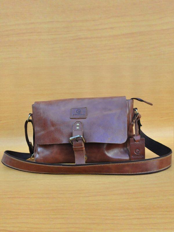 Frezza Bag - Dark Brown GL25 Jual Tas Kulit Asli Jogja Genkzhi Leather