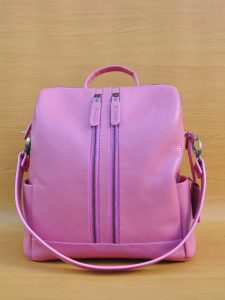 Greesa Backpack - Sexy Pink GL22 Jual Tas Kulit Asli Jogja Genkzhi Leather