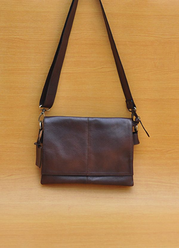 Holly Bag _ Dark Brown GL24 Jual Tas Kulit Asli Jogja Genkzhi Leather
