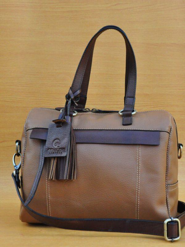 Mollysa Bag - Dark Brown GL4 Jual Tas Kulit Asli Jogja Genkzhi Leather