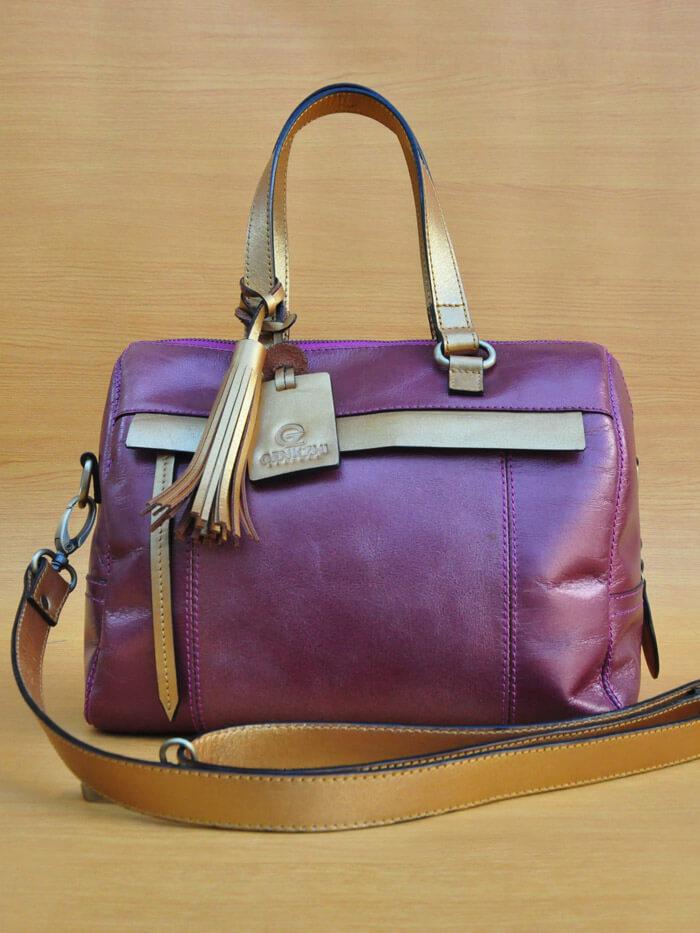 Mollysa Bag - Golden Purple GL2 Jual Tas Kulit Asli Jogja Genkzhi Leather (2)