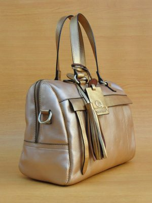 Mollysa Bag - Metallic Brown GL5 Jual Tas Kulit Asli Jogja Genkzhi Leather