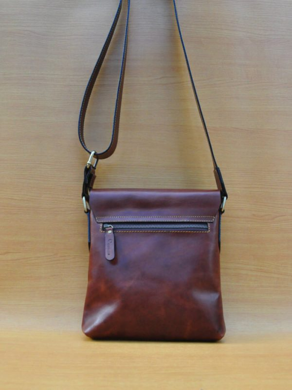 Oreon Bag - Dark Brown GL12 Jual Tas Kulit Asli Jogja Genkzhi Leathe