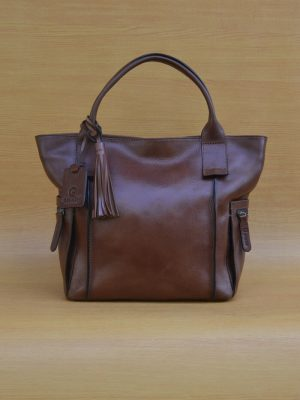 Emerzhi Bag - Brown GL32Jual Tas Kulit Asli Jogja Genkzhi Leather