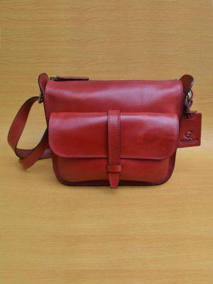 Ezee Bag – Red GL26 Jual Tas Kulit Asli Jogja Genkzhi Leather