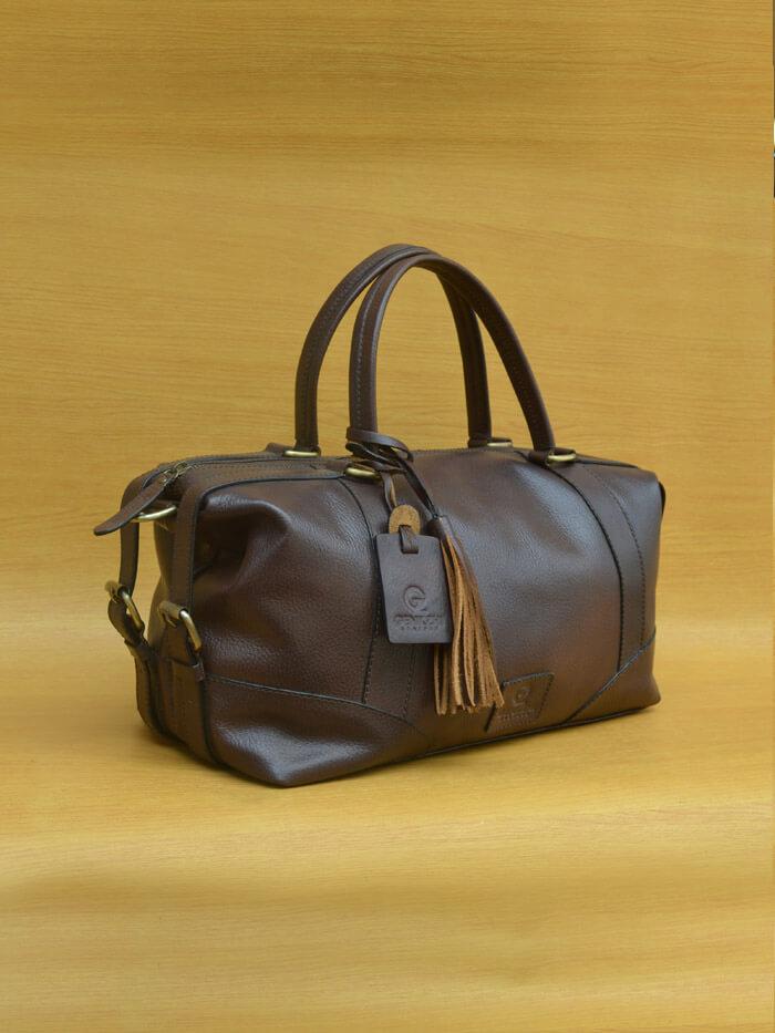 Gervi Bag – Brown GL33 Kerajinan kulit asli jogja Genkzhi Leather