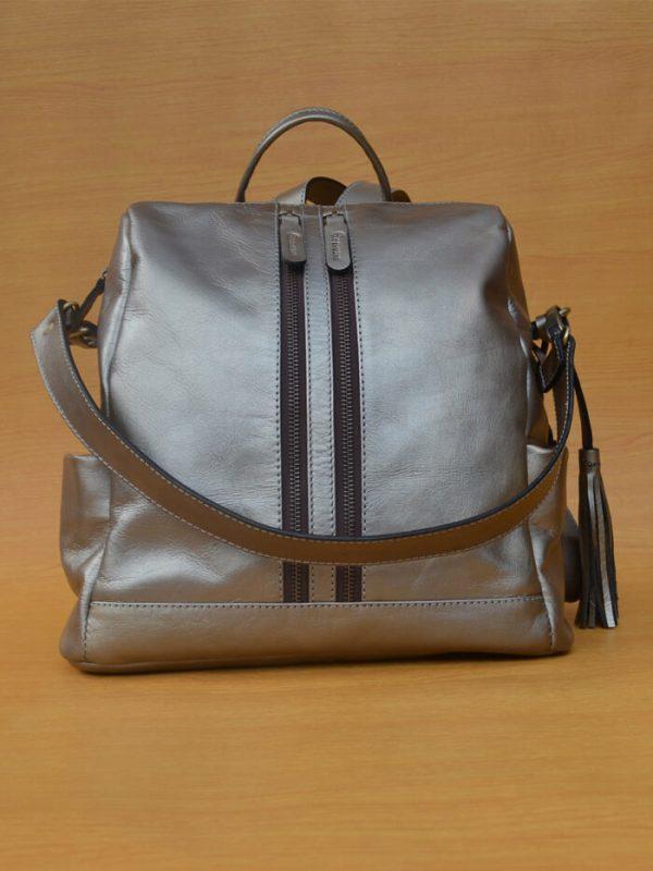 Greesa Backpack – Sexy Rose Gold GL36 Kerajinan kulit asli jogja Genkzhi Leather