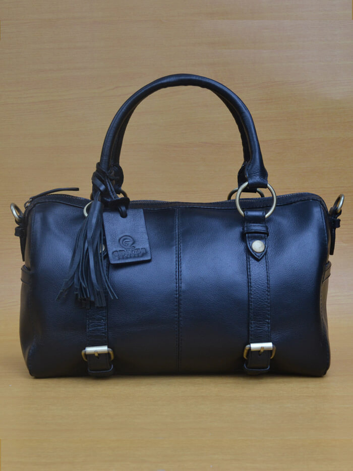 Maxena Bag – Black GL 31 Jual Tas Kulit Asli Jogja Genkzhi Leather